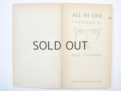 画像3: ソール・スタインバーグ「CARTOONS ALL IN LINE」1947年 ※ソフトカバー版