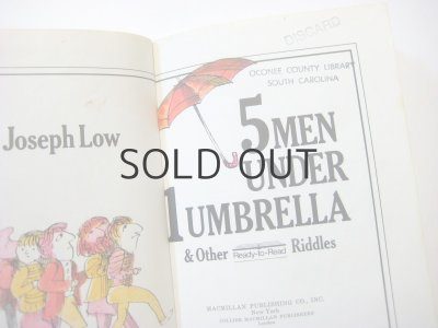 画像3: ジョセフ・ロウ「5 men under 1 umbrella & other riddles」1975年
