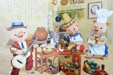 他の写真1: 【人形絵本】飯沢匡/土方重巳「ぶーふーうーのきしゃごっこ」1963年
